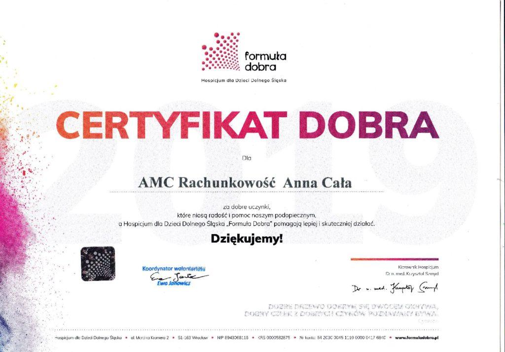 Wpodziękowaniu zapomoc worganizacji prezentów mikołajkowych dla Hospicjum Dzieci Dolnego Śląska.